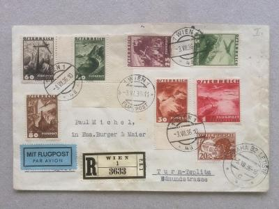 Rakousko - ČSR 1936 letecké