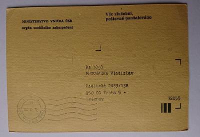 Věc služební - Ministerstvo vnitra ČSR - 1979