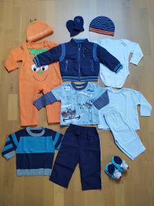 NOVÉ oblečení, sada podzim/zima, NEXT / GEORGE vel. 74 (6-9m)