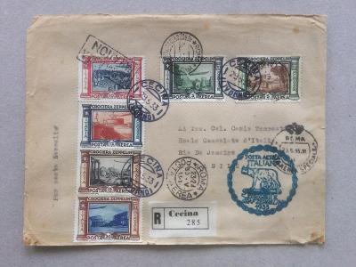 Itálie 1933 Graf Zeppelin do Jižní Ameriky