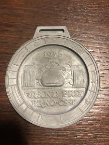 GRAND PRIX BRNO / ČSSR 1976 - vzory medailí pro výrobu