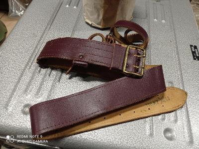 Kožený opasek DOHODA čsla hnědý velikost 110 rok 1993 kompletní