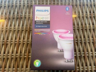 SADA 2x LED Stmívatelná žárovka Philips White And Color Ambiance GU10