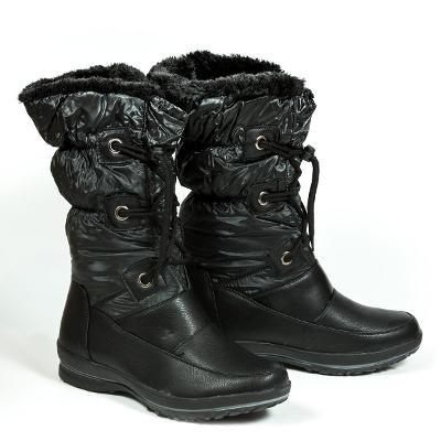 Luxusní černé sněhule vel. 37,38 - 399kč - SKLADEM I KOUŘOVĚ ŠEDÉ
