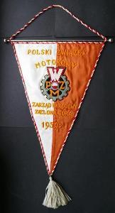 POLSKI ZWIAZEK MOTOROWY - ZIELONA GÓRA 1959 !!!! KRÁSNÁ VLAJKA, v=52cm