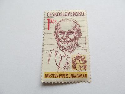 """Známka """"Papež"""" 1 Kčs"""