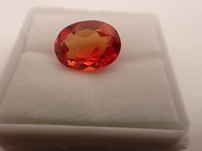 Oranžový safír z Indie 5,2ct, 12,5x9x5,5mm
