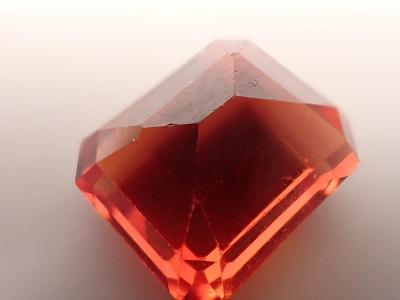 Oranžový safír z Indie 10.92ct, 12,x10x6,5mm