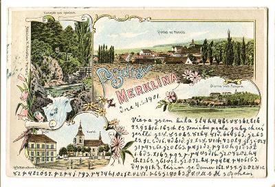 Merklín, Plzeň jih, litografie