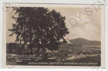 Šumava, Sušice, kostelík sv. Vavřince, Zdouň u Hrá