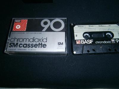 MC Kazeta BASF chromdioxid SM cassette