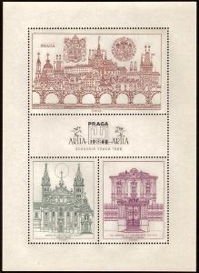 ČSR - BAREVNÁ OCELORYTINA PRAGA 1968 - JIŘÍ ŠVENGSBÍR (S1172)