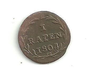 1 Rappen  Švýcarsko Luzern 1804
