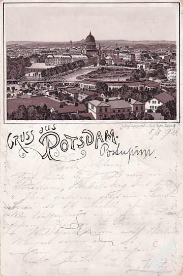 NĚMECKO-POTSDAM-PANORAMA-LITHO-1894!  29-AX34