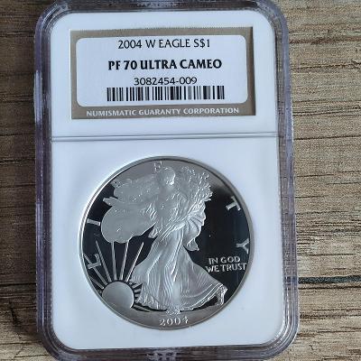 Stříbrná investiční mince  American Eagle 1 Oz 2004 PF70 Ultra Cameo