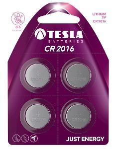 TESLA baterie CR2016, 4ks, CR2016