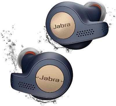 Jabra Elite Active 65t, měděně modrá s mikrofónem, bluetooth