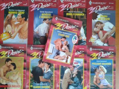 9x HARLEQUIN DESIRE NA PŘÁNÍ romantické čtení za 1 Kč !!!