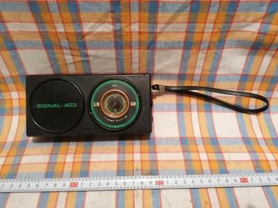 Starší rádio, tranzistor Signal 403