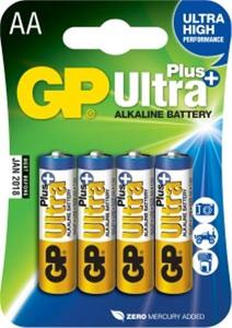 Alkalické baterie GP Ultra Plus 4x AA