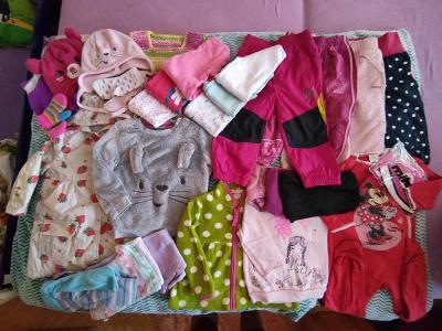 Balík oblečení - zimní - holka, vel.86