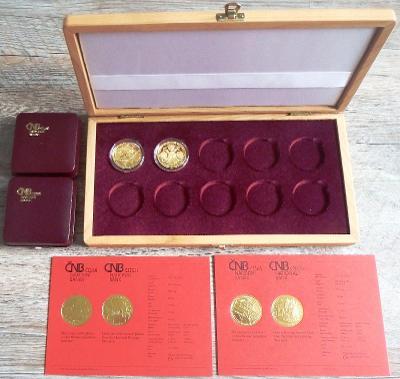 2 zlaté mince 5000,- Kč - Městské památkové rezervace - Cheb a Jihlava