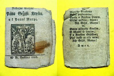 Nábožné wolánj Pánu Ježíssi Krystu, a k Panně Maryi (B. Bystřice 1863)
