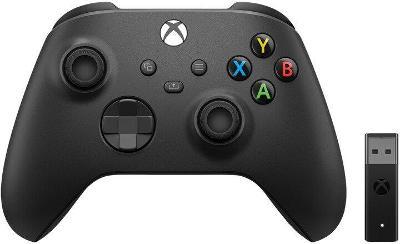 Xbox Series Bezdratovy ovladac, cerny + bezdratovy adapter (PC, Xbox S