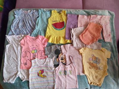 Balík oblečení - letní - holka, vel.86