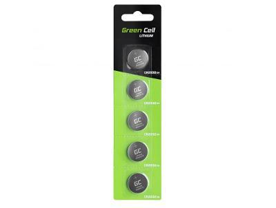 Baterie 5x Lithium Green Cell CR2032 3V 220mAh