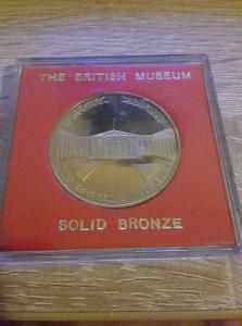 Bronzová medaile - britské muzem v originální etuji