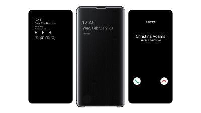 Samsung Clear View flipové pouzdro pro Samsung Galaxy S10+,černá