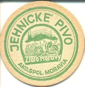 Tácek pivovaru Jehnice do roku 1948