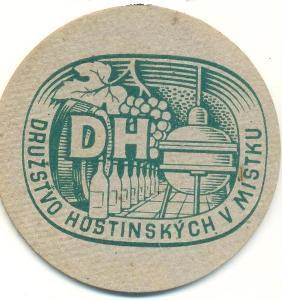 Tácek Družstvo hostinských v Místku do 1948 jednostranný