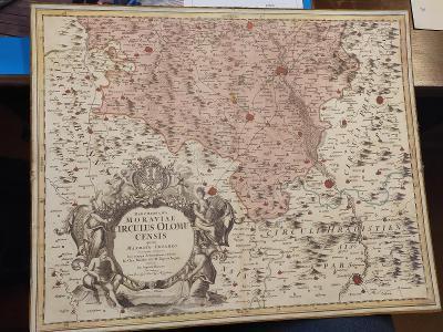 stará mapa moravy