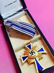 TOP Německý kříž matek ve zlatě + etui, C. E. Juncker, Berlin