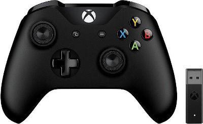 Xbox ONE Bezdrátový ovladač, černý + bezdrátový adaptér pro Win 10