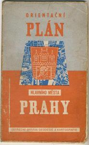 PRAHA - stará mapa - 1957