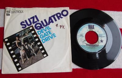 🔴 SP: SUZI QUATRO - DEVIL GATE DRIVE / IN THE MORNING, ex 1press 1974