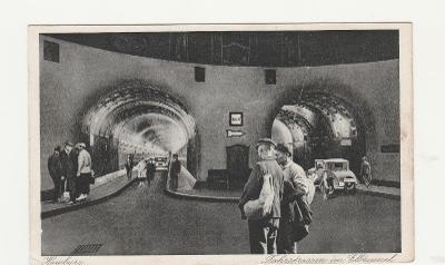 Německo, Hamburg, Elbtunel, cca 1930, čistá
