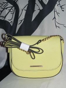 Kabelka crossbody , krásná nová kabelka - pastelová žlutá