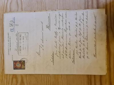 Unikát!! Žaloba Hrabě Palffy Březnice r.1903
