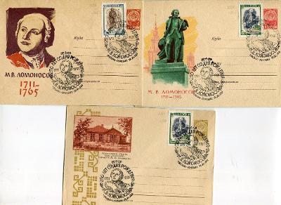 SSSR - 250. VÝROČÍ NAROZENIN LOMONOSOVA 1711 -  1961 /A 50