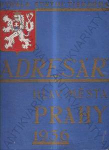 Adresář hlav. města Prahy 1936 Státní tiskárna