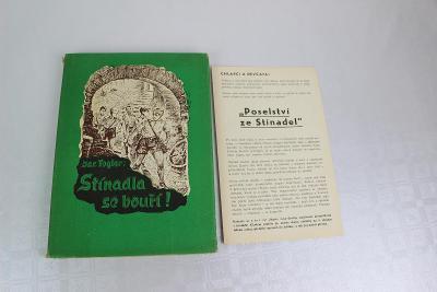 JAROSLAV FOGLAR - STÍHADLA SE BOUŘÍ kniha 1970 + leták POSELSTVÍ ZE ST