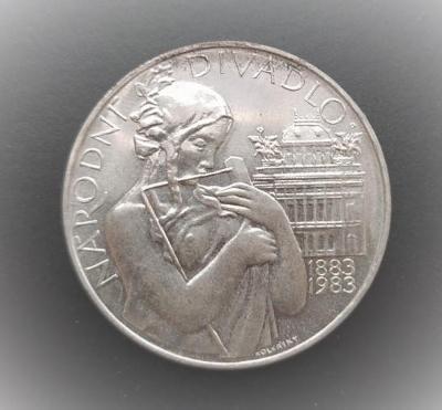 Stříbrná mince 500 Kčs Národní divadlo 100. výročí 1983