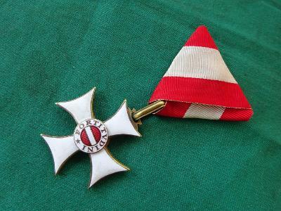 RU vojenský řád Marie Terezie- rytířský kříž, RR! TOP STAV
