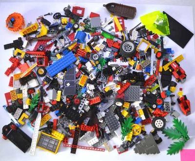 Lego - pouze jednotlivé díly (9) 1,15 kg + dárek oddělovač kostek
