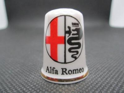 Sběratelský náprstek Reklama - Alfa Romeo, značka italských automobilů