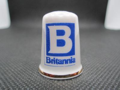 Sběratelský náprstek Reklama - britské hotely Britannia